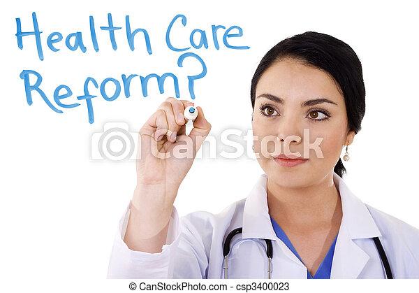 cuidado, salud, reform - csp3400023