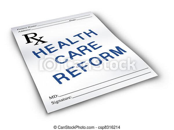 Reforma de salud - csp8316214