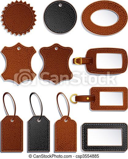 cuir, étiquettes - csp3554885