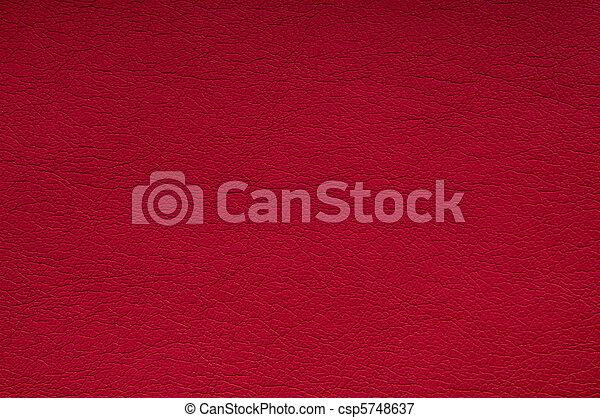 cuir, arrière-plan rouge - csp5748637