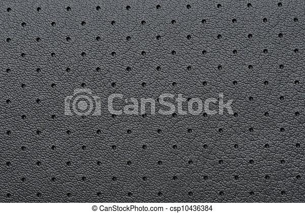 Cuir Texture Noir Peau Perfore Ou Cuir Papier Peint Texture