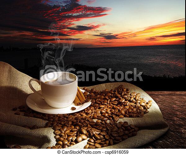 cuire café vapeur, tasse - csp6916059