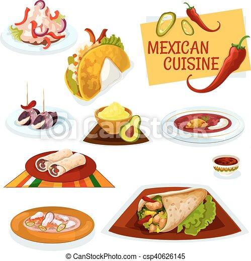 cuisine pic mexicain plats traditionnel ic ne vecteur eps rechercher des clip art. Black Bedroom Furniture Sets. Home Design Ideas