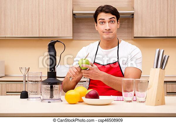 cuisine, homme, fonctionnement, beau - csp46508909