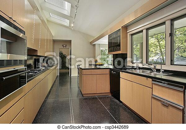 cuisine noir plancher tachet plancher tachet noir maison luxe cuisine. Black Bedroom Furniture Sets. Home Design Ideas