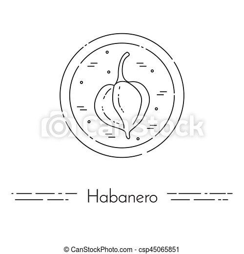 cuisine, nourriture, sain, végétarien, habanero, ligne mince, bannière - csp45065851