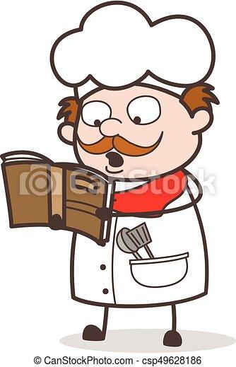 Cuisine Recette Chef Cuistot Livre Lecture Dessin Anime