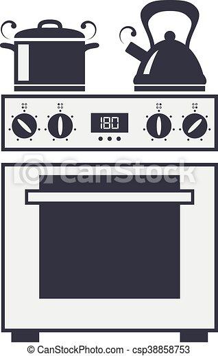 cuisine vecteur 233lectrique four ic244ne 201lectrique