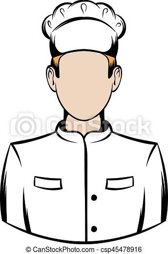 cuisinier dessin anim icne csp45478916 - Dessin Cuisinier
