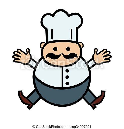 cuisinier rigolote dessin anim csp34297291 - Dessin Cuisinier