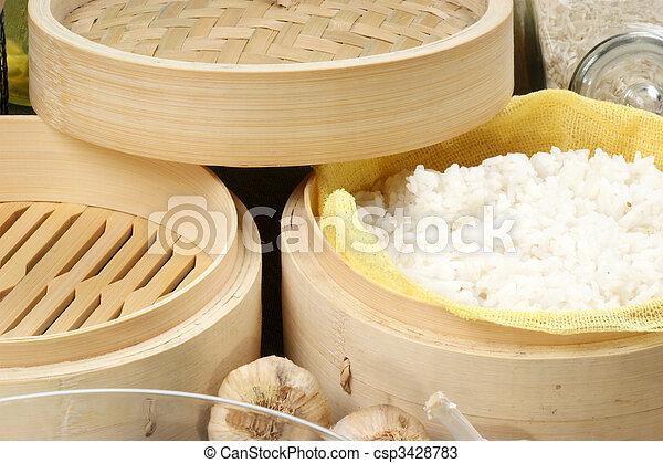 cuit vapeur vapeur riz organique bambou. Black Bedroom Furniture Sets. Home Design Ideas