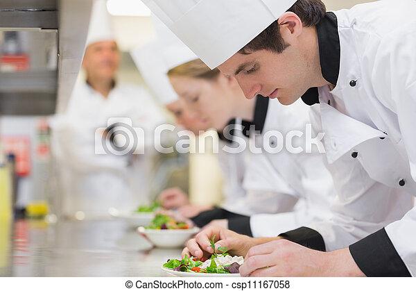 culinaire, cuisine, salades, classe, confection - csp11167058