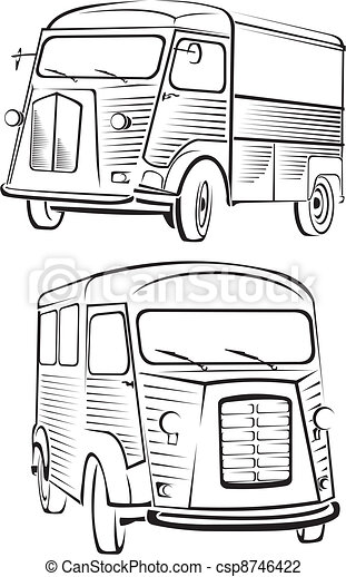 cult old van - old school design - csp8746422