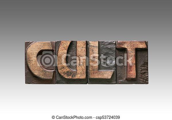 cult vintage type - csp53724039