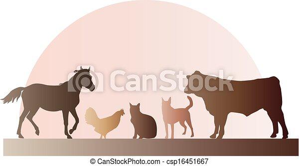 Ilustración de animales de granja - csp16451667