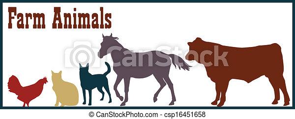 Ilustración de animales de granja - csp16451658