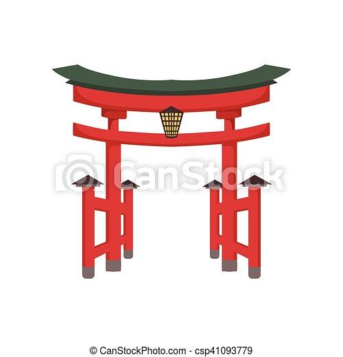 Cultura Japonesa S Mbolo Templo Puerta Objeto Japon S