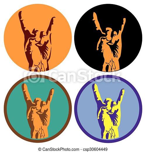 cultura, simbolo, roccia - csp30604449