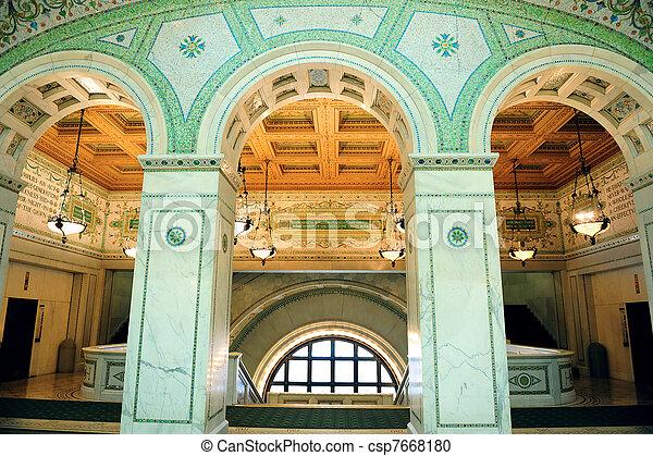 Centro cultural de Chicago - csp7668180