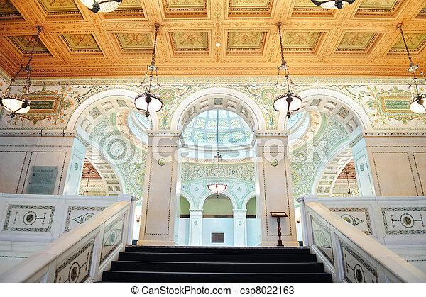 Centro cultural de Chicago - csp8022163