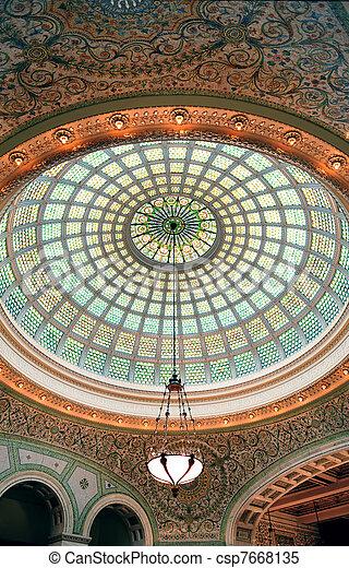 Centro cultural de Chicago - csp7668135