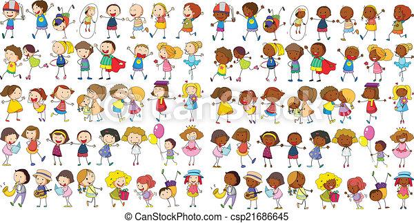 Niños culturales - csp21686645