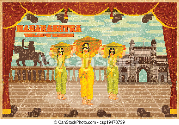 Illustration Depicting The Culture Of Maharashtra India