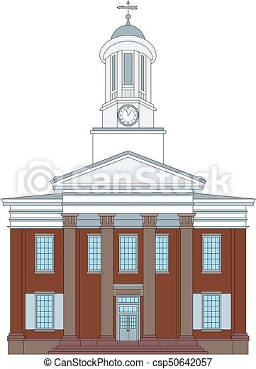 Old Courthouse Clipart