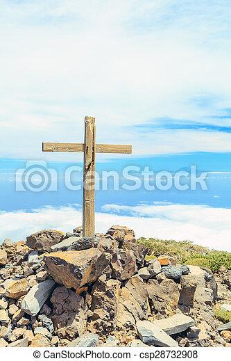 cumbre, cristiano, cruz - csp28732908