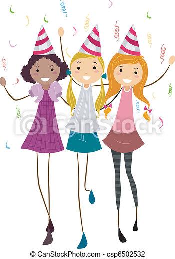 Amigos de cumpleaños - csp6502532