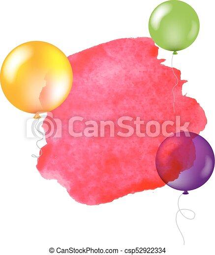 Feliz estandarte de cumpleaños - csp52922334