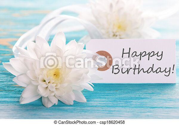 cumpleaños, etiqueta, feliz - csp18620458