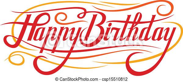 Feliz cumpleaños - csp15510812