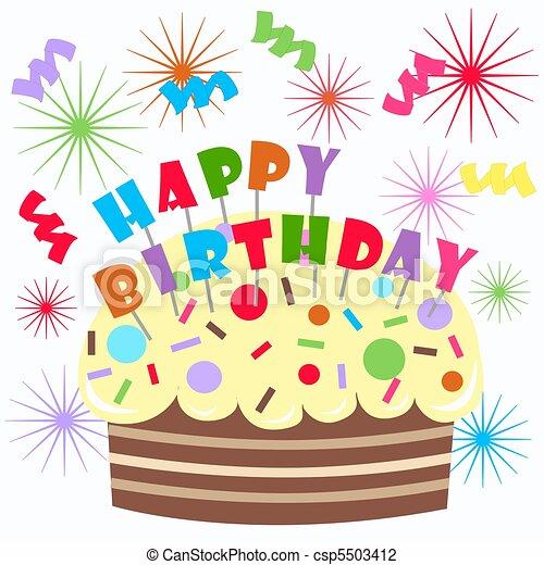 cumpleaños, feliz - csp5503412
