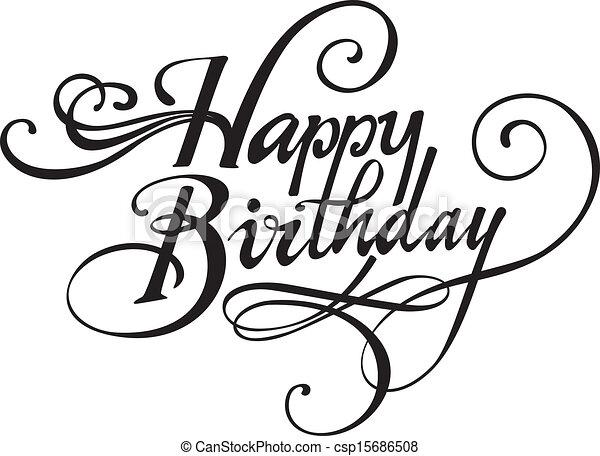 Feliz cumpleaños - csp15686508