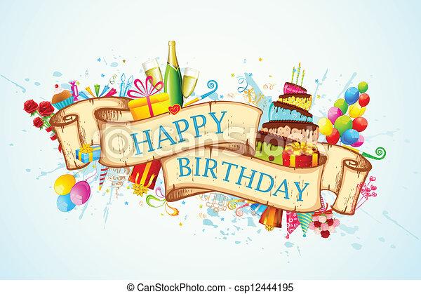 cumpleaños, feliz - csp12444195
