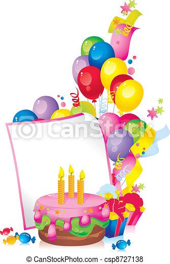Feliz cumpleaños - csp8727138