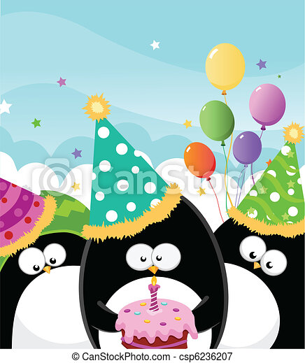 cumpleaños, feliz - csp6236207