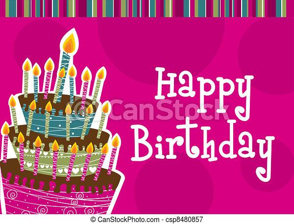 cumpleaños, feliz - csp8480857