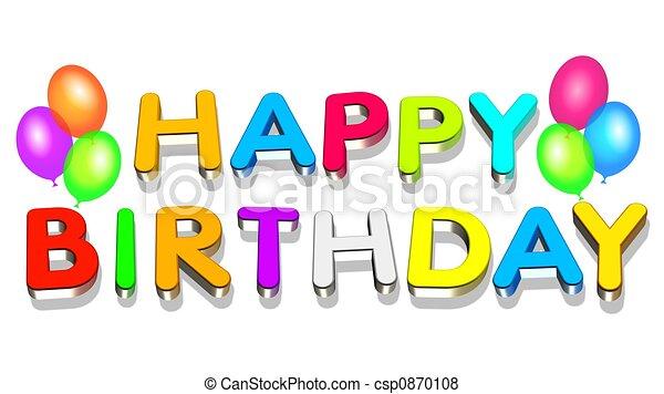 cumpleaños, feliz - csp0870108