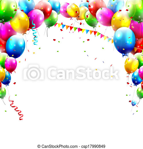 cumpleaños, globos - csp17990849