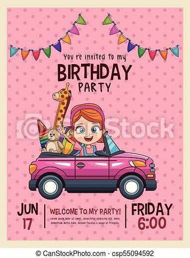 Tarjeta De Invitación De Cumpleaños Para Niños Los Niños