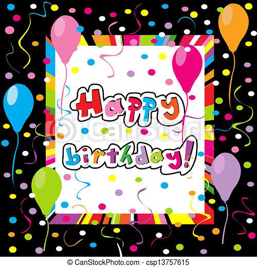 Feliz cumpleaños - csp13757615
