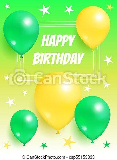 Feliz Cumpleaños Globos De Tarjetas De Invitación Feliz