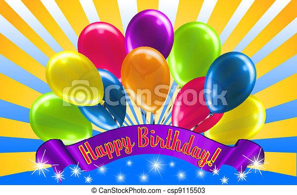 cumpleaños, salida del sol, feliz - csp9115503