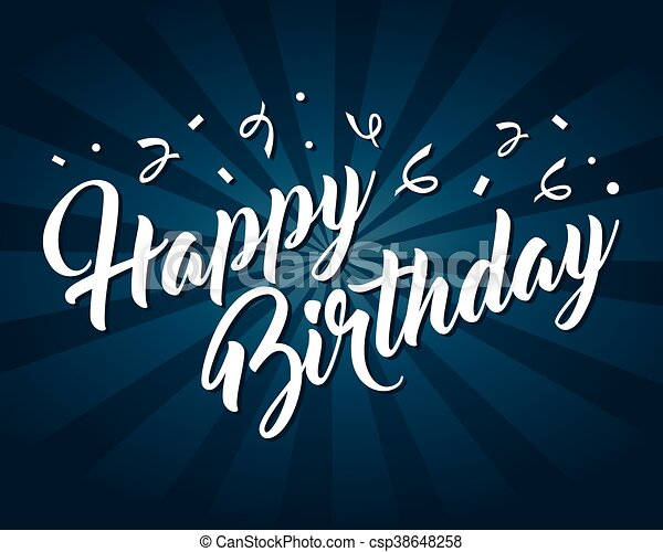 Feliz tarjeta de cumpleaños - csp38648258