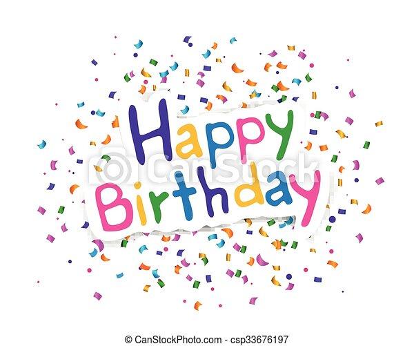Vector feliz tarjeta de cumpleaños - csp33676197