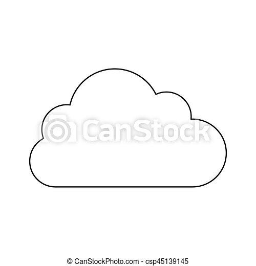 cumulus forme silhouette nuage csp45139145 - Dessin De Nuage