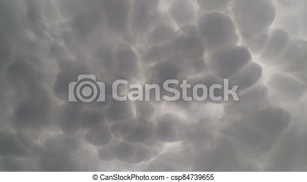Cumulus is a fluffy cloud like a cotton ball. Rounded shoots like cauliflower. - csp84739655