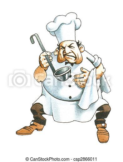 Cuoco Illustrazioni E Clip Art 374406 Cuoco Illustrazioni Disegni